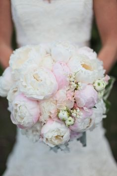 pink peonies wedding flower bouquet, bridal bouquet, wedding flowers, add pic source on comment and we will update it. www.myfloweraffair.com can create this beautiful wedding flower look.
