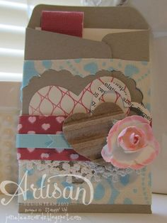 Valentine Envelope & Card - January project | Jane Lee http://janeleescards.blogspot.com