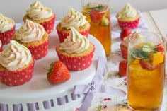 Pimm's cupcakes (updated recipe) // Lay the table for Wimbeldon
