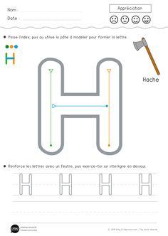 Superbe découverte sur l-education.com Apprendre à écrire la lettre H en capitale d'imprimerie