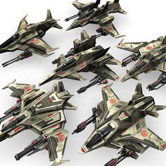 Sci-Fi Jet Fighters by RusSandwichd