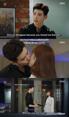 W the two worlds.one of the best scenes Jung Suk, Lee Jong Suk, Jung Yong Hwa, W Kdrama, Kdrama Memes, Live Action, Korean Drama Funny, Kang Chul, Drama Fever