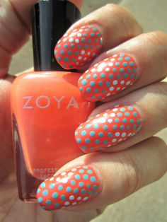 Concrete and Nail Polish: Even More Polka Dots!