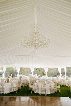 White Tent Outdoor Wedding