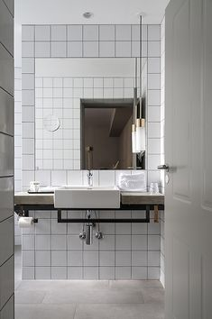 One of the new hotels in Copenhagen, Hotel is a great design experience. It is a boutique hotel situated in Copenhagen's old Latin Quarter, Sankt Peders Stræde, just 100 meters from the Town. Bathroom Inspo, Bathroom Inspiration, Bathroom Interior, Bathroom Styling, Bathroom Ideas, Minimal Bathroom, Modern Bathroom, White Bathroom, Modern Sink