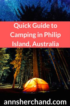 A quick guide to camping in Philip Island - Anna Sherchand Travel Guides, Travel Tips, Travel Around The World, Around The Worlds, Switzerland Itinerary, Australia Travel Guide, Coast Australia, Group Travel, Camping Ideas