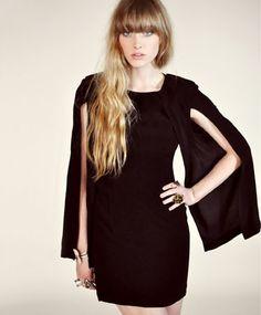 Shakuhachi Split Sleeve Cape Dress