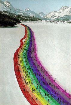 ir a esquiar al arco-iris