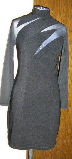 80s sheer black mini cocktail dress sheer by ChloeandNatalieVtg, $49.00