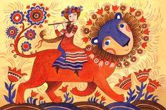 Просмотреть иллюстрацию Лев идёт — мир цветёт из сообщества русскоязычных художников автора Герасимова Дарья в стилях: Книжная графика, нарисованная техниками: Акварель.