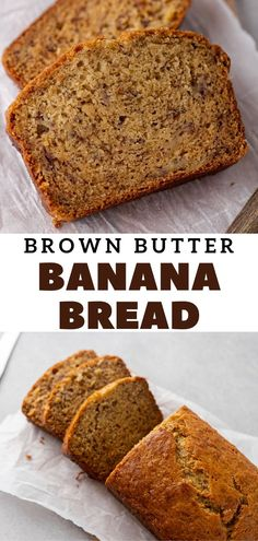 Bread Recipes, Cake Recipes, Dessert Recipes, Good Food, Yummy Food, Brown Butter, Holiday Recipes, Banana Bread, Delicious Desserts