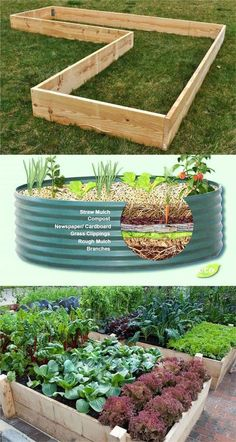 Detailed guide on how to build raised bed gardens! Lots of tips and ideas on best designs, soil, and materials for productive & beautiful DIY raised beds! - A Piece of Rainbow garden beds diy cheap All About DIY Raised Bed Gardens – Part 1 Backyard Vegetable Gardens, Vegetable Garden Design, Garden Soil, Outdoor Gardens, Vegetable Bed, Garden Pavers, Potager Garden, Herbs Garden, Garden Edging