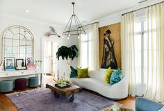 An Older Charleston Home Is an Inspiring, Eclectic Art Haven (Apartment Therapy Main) Bedroom Photography, Hand Photography, Interior Photography, Charleston Homes, Curved Sofa, Interior Decorating, Interior Design, Room Interior, Living Room Inspiration