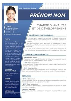 modele cv couleur gratuit If you like this cv template. Check others on my CV template board :) Thanks for sharing! Basic Resume, Resume Cv, Resume Writing, Visual Resume, Resume Design Template, Cv Template, Resume Templates, Cv Consultant, Cv Ingenieur