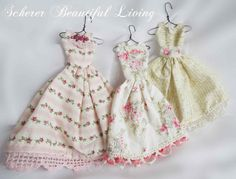 miniature dress ornaments Scherer Beautiful Living decorating