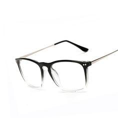 Fashion Women Rivet Clear Lens Eyeglasses Frames Brand Unisex Retro Optical Glasses Men Big Frame Metal Temples Eyewear oculos