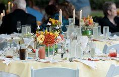 Catalina & Drew at Inn Marin. Photos by Owen Kahn Photography. Table setting.