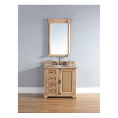 Providence 36 Natural Oak Single Vanity with Stone Top