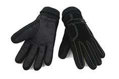 Cold Weather Windproof Knitted Cotton Warm Full Finger Real Leather Plus Velvet Golves Anti-slip Bicycling Gloves Mountain Bike Rode Racing Gloves *** Check out the image by visiting the link.