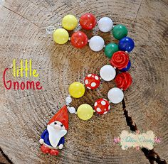 Little Gnome Chunky Necklace m2m Gnomeville by ribboncandyhairbows, $22.00