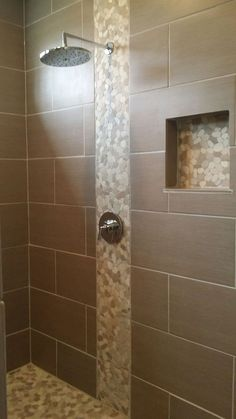 Image result for shower with large tiles