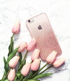 Rose Gold Ombre Glitters for iPhone 6 iPhone 6S by HandmadebyTN
