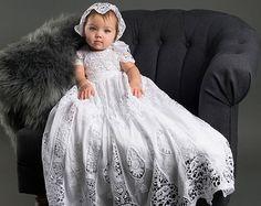 Christening Gown & Bonnet Grace Baptism Gown Lace