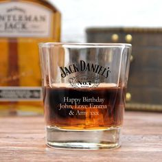Personalised 300ml Jack Daniels Whisky Glass Gifts