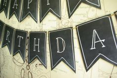 Boy's Mad Science Birthday Party Banner Ideas