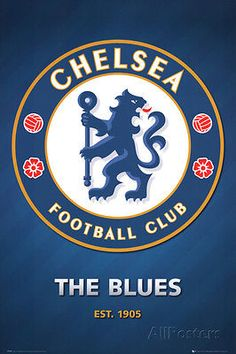Chelsea fc club #crest poster 61 x 91cm prints print #bedroom posters #wallpaper, View more on the LINK: http://www.zeppy.io/product/gb/2/281651246814/