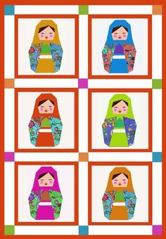 Matryoshka paper pieced block