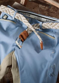 Equiline Spring Summer collection 2013 - Equiline -  Lite Blue Breeches with Woven Belt