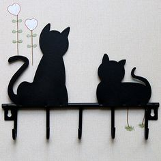 Cheap hook supplier, Buy Quality hook wall hanger directly from China hook jig Suppliers: CSS Black cat design Metal Iron Wall Door Mounted Rustic Clothes Coat hat key hanging Decorative Wall Hooks Robe Hanger Cats Cast, Decorative Wall Hooks, Wall Key Holder, Metal Hangers, Rustic Doors, Cat Wall, Cat Crafts, Iron Wall, Diy Crafts