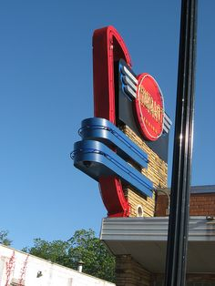 A Vintage Sign in the Plaza District, Oklahoma City