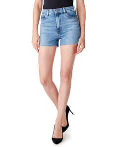 J Brand Jules High-Rise Cutoff Denim Shorts in Chadron Women - Bloomingdale's Denim Cutoff Shorts, Denim Branding, Fashion Branding, Black Leather Shorts, High Rise Shorts, Short Outfits, Cotton Shorts, J Brand