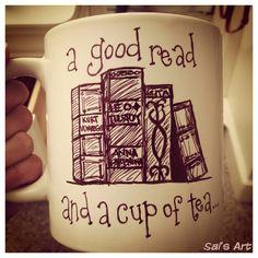 sharpies and a ceramic mug