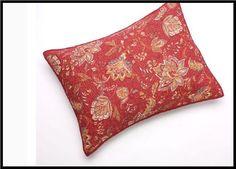 1 - Home Classic Sarah Quilt Sham - 100% Cotton Standard 20 X 26 Red Floral =