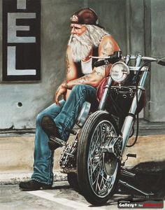 Harley Davidson so love this pic!!~ Says a lot about the lifestyle~ #design #motorcycles | caferacerpasion.com