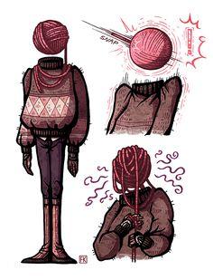 Yarn ball by malliya character creation, character concept, fandom, object heads, tv Fantasy Character Design, Character Drawing, Character Design Inspiration, Character Creation, Character Concept, Pretty Art, Cute Art, Art Sketches, Art Drawings