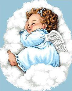 Items similar to Cherub -Sleeping Peacefully -Cross Stitch PDF Pattern on Etsy Angel Images, Angel Pictures, Cute Pictures, Cross Stitch Charts, Cross Stitch Designs, Cross Stitch Patterns, Cross Stitches, Blue Cross, Baby Art
