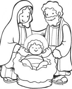 mary and joseph and baby jesus bible coloring pages ... - Baby Jesus Manger Coloring Page
