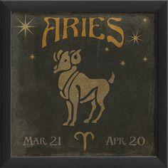 Zodiac Aries Framed Graphic Art