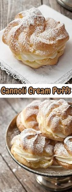 Cannoli Cream Puffs - These are so pretty, they would be perfect for a special occasion. #recipes #foodrecipes #easyrecipes #simplerecipes #quickrecipes #cheaprecipes #goodrecipes #bestrecipes #latestrecipes #newrecipes #recipesideas #simplefoodrecipes #cookingrecipes