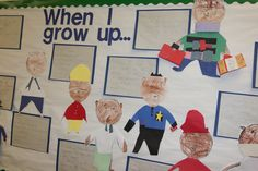 "Bulletin board for weather -- read ""Cloudy with a Chance of Meatballs"" All About Me Crafts, All About Me Preschool, All About Me Activities For Preschoolers, Preschool Learning, School Displays, Classroom Displays, All About Me Topic, Marvellous Me, People Who Help Us"
