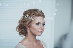 Braut Headpiece Braut Haar fixiert Braut Haarteil von EnzeBridal
