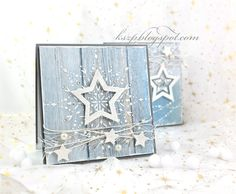 Fabric Christmas Card Winter WelcomeChristmas Cards, Holiday Cards and Winter Cards to Craft 2 Would work just as well with old cards. Homemade Christmas Cards, Christmas Cards To Make, Handmade Christmas, Homemade Cards, Holiday Cards, Christmas Diy, Star Cards, Snowflake Cards, Winter Cards