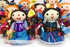 colorido grupo de muñeca Otomí de Queretaro mexico for Armida