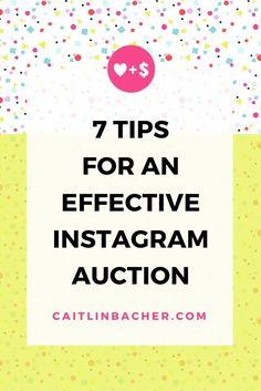 7 Tips For An Effective Instagram Auction   Caitlin Bacher