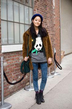 Street Style: Hyoni Kang | #kfashion #korean #fashion #korea #models |