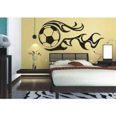 Amazon.com: Vinyl Wall Decal Sticker World Cup Football Soccer Fire Art Home Living Room Murals 13inch High